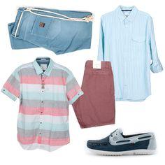 #EstiloMvd ¡Para ellos en Navidad! Camisa corta y Pantalón Uniform; Camisa larga y Bermuda GAP; Nauticos – Macri