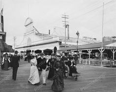 Youngs Ocean Pier Boardwalk Atlantic City 8x10 Reprint Of Old Photo