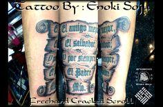 Scroll Tattoo By Enoki Soju by enokisoju.deviantart.com on @deviantART