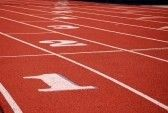 Running Track At The Stadium Of The Modern Coating Numbered. Royalty Free Stock Photo, Pictures, Images And Stock Photography. Image 8153760.