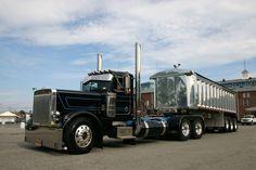 Gear Jammer Magazine - Working Show Trucks USA-calendars,etc. Peterbilt Dump Trucks, Peterbilt 359, Ford Trucks, Show Trucks, Hot Rod Trucks, Big Rig Trucks, Car Dump, Dump Trailers, Heavy Construction Equipment