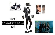 """BTS (No More Dream) MV"" by ubertastic101 on Polyvore featuring Marcus Adler, LE3NO, Simons, Christian Louboutin, Gucci, La Preciosa, Swarovski and BERRICLE"