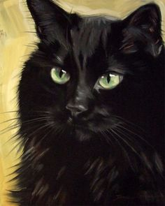 The Black Cat Art of Diane Irvine Armitage Black Cat Painting, Black Cat Art, Black Cats, Crazy Cat Lady, Crazy Cats, I Love Cats, Cute Cats, Cat Drawing, Beautiful Cats