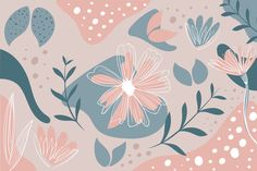 Download Hand Drawn Abstract Wallpaper With Organic Shapes for free