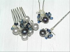 For the MoB who doesn't want a hat or fascinator!  This trio pin set looks fabulous scattered around a chignon or tucked down a pleat.  All fresh water pearls & Swarovski crystals too!  www.notonthehighstreet.com/heirloomseverafter
