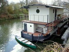 Hausboot im Zentrum Hamburgs