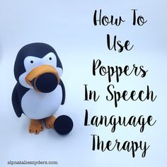 Natalie Snyders SLP: How to Use Toy Poppers in Speech Language Therapy. Pinned by SOS Inc. Resources. Follow all our boards at pinterest.com/sostherapy/ for therapy resources.