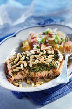 Raikas sitrus-pastasalaatti ja uunilohi | Kalaruoat | Pirkka #food #fish