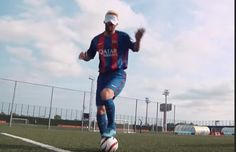 Lionel Messi takes on Spain's Paralympic football team…