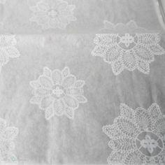 Seidenpapier, weiß, Spitzendeckchen http://schoenherum.de #seidenpapier #tissuepaper