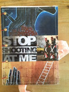 Stop shooting at me! For this notebook, I used my photographs of street art found on the walls of: - Paris, France - Girona, Spain - New York City, USA - Kilkenny, Ireland For sale on www.delphineiv.com