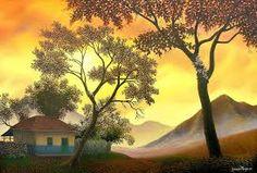 Resultado de imagen para paisajes al oleo de pintores colombianos