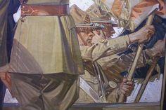 J.C. Leyendecker, original oil painting, illustration art for Kuppenheimer Style Booklet interior (detail).