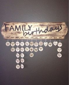 Family Birthdays