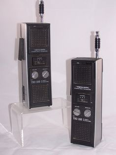 Vintage: Realistic TRC-208 3 channel 3 watt CB transceiver.  The needed 10 AA batteries or 8 rechargeable AA batteries.