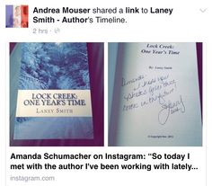 Signed book photos making rounds. Fun to see when they come back around! :)