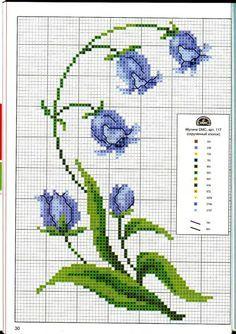 Blue flower #cross #stitch