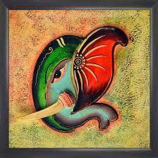 ganesha paintings - Google Search Shree Ganesh, Ganesha Painting, Simple Rangoli, Art N Craft, Lord Ganesha, Hindu Art, Indian Gods, Mehndi Designs, Clay Art