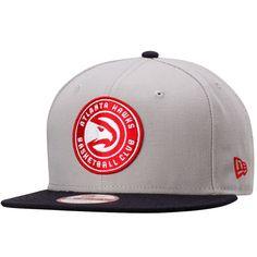 big sale 1c9b5 9242e New Era Atlanta Hawks Gray Team Snapback Adjustable Hat. NBA Caps   Hats
