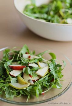 Simple Arugula Salad with apples and Pear   detox salad   Raw Salad