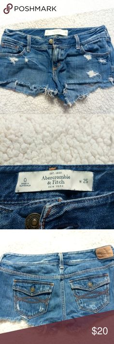 Abercrombie & Fitch Jean shorts Sz 0 Abercrombie & Fitch Jean Shorts   Size 0  Worn only a handful of times. Immaculate condition.  Motivated seller Abercrombie & Fitch Shorts Jean Shorts