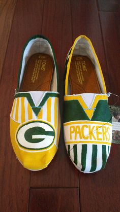 Color Block Sports/Football Custom TOMS Green Bay by LaQuist, $105.00  I WANT THIS SO SO BAD!!!!
