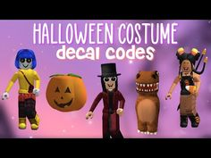 Halloween Costume Decal Codes || For Bloxburg & more
