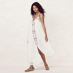 3487d73cf7 Women's LC Lauren Conrad Embroidered Maxi Dress Lauren Conrad Collection,  White Maxi Dresses, Fashion