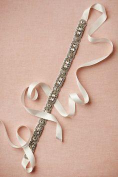 For bridesmaid Deco Shine Sash from BHLDN