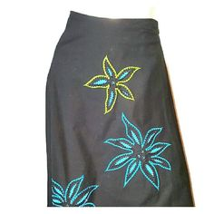 """Beautiful BASIL & MAUDE for ANTHROPOLOGIE Skirt M Pristine condition-maybe worn once- Awesome look- Detailed with stunning embellishments-Measurements: waist= 30"""" lenght =37"""" Extremly versatile as it wears easily day to evening. Anthropologie Skirts A-Line or Full"""