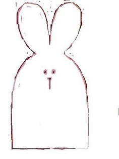 Molde da cesta de coelhos de tecido