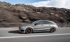 spacious mercedes-benz CLA shooting brake powers to speeds of 215km/h