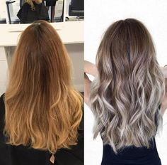 stunning before & after hair transformation #beachywaves