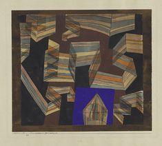 パウル・クレー『透視ー遠近法的な』1921年 個人蔵(スイス)、パウル・クレー・センター(ベルン)寄託 ©Zentrum Paul Klee c/o DNPartcom