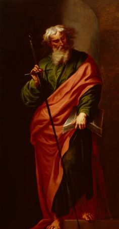 The Apostle Paul - Alonso Cano - Gemäldegalerie Alte Meister - Staatliche Kunstsammlungen Dresden  (Germany - Dresden)      Dates:circa 1650-1660; Dimensions:Height: 212 cm (83.46 in.), Width: 111 cm (43.7 in.) - oil on canvas