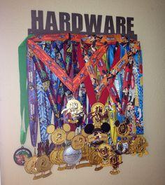 Sport Hooks Medal Displays for your runDisney medals! http://www.runnersguidetowdw.com/display-rundisney-medals-sport-hooks/