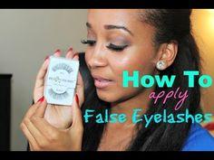 The best video on applying false eyelashes! So easy!