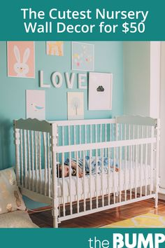 Decorate baby's room with cheerful decor that doesn't cost a fortune. Baby Wall Decals, Nursery Wall Decor, Baby Room Decor, Nursery Ideas, Unique Wall Decor, Animal Nursery, Baby Furniture, Girl Room, Accent Pieces