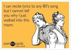 I love 80's music! Hahaha this is so true!