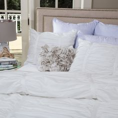 the mirabel white duvet cover / crane and canopy