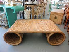 Rattan Scroll Coffee Table