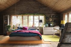 30 Inspiring Wood Walls for Your House : Open Bedroom With Wood Floor And Ceiling