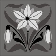 Click to see the actual DE221 - Tile No 18 stencil design. stencil-library.com