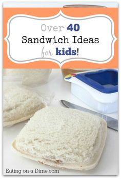 HUGE Roundup of Sandwich Ideas for Kids to help you jazz up your lunch ideas! http://eatingonadime.com/sandwich-ideas-for-kids/?utm_campaign=coschedule&utm_source=pinterest&utm_medium=Eating%20on%20a%20Dime%20(Best%20of%20Eating%20on%20a%20Dime)&utm_content=HUGE%20Roundup%20of%20Sandwich%20Ideas%20for%20Kids