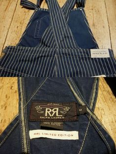 RRL double Earl El LIMITED EDITION double dot WABASH stripe overalls