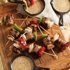 Grilled Sausage Skewers with Beer-Mustard Sauce