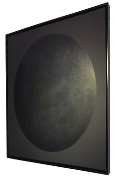 Moon serie - Black Moon detail -  Lacquer with wax finish - 120x120 cm