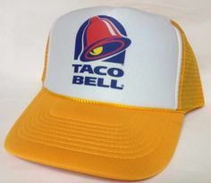 Taco Bell Trucker Hat Mesh Hat  Snap Back Hat Camo by MESHHATCOM, $10.99