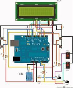 Utilizzo di un sensore DHT 11 per misurare l'umidità e la temperatura e mostrare i valori su un display lcd.