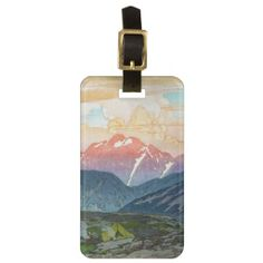 Cool oriental morning watercolor mountain scenery tags for luggage by TheGreatestTattooArt Bicep Tattoo, Gorgeous Tattoos, Mountain Tattoo, Custom Luggage Tags, Standard Business Card Size, Oriental Design, Printing Process, Scenery, Watercolor